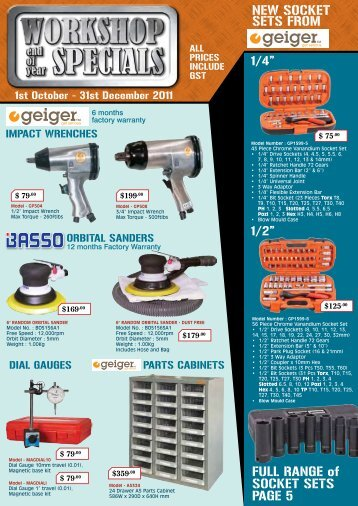 NEW SOCKET SETS FROM FULL RANGE of SOCKET SETS PAGE 5