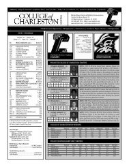 Appalachian State Game Notes.indd - College of Charleston Athletics