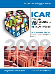 ItALIAN CONFERENCE on AIDS and REtROvIRUSES - SIV