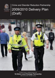 crime and disorder reduction strategy delivery ... - St Helens Council