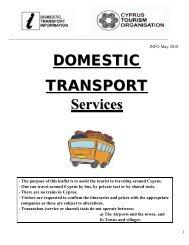 bus services - Cyprus Tourism Organisation