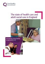 CQC State of Care 2012 - Action on Elder Abuse