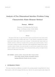 Analysis of Two Dimensional Interface Problem Using Characteristic ...