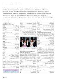 Produktionstelegramm aus PP 09/07 - Professional Production