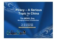 Piracy - A Serious Topic in China