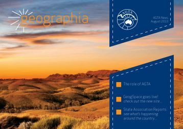 August 2013 issue of AGTA's newsletter Geographia - Australian ...