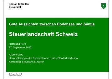 Steuerlandschaft Schweiz