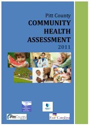 2011 Community Health Assessment - Pitt County Government