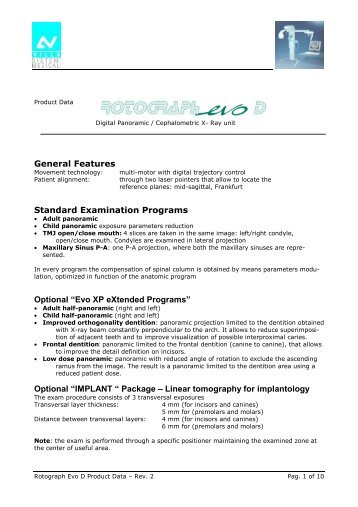 villa rotograph spec.pdf - PROFI - dental equipment