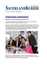 Erfahrungen weitergeben - Competentia NRW
