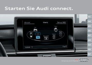 Starten Sie Audi connect.