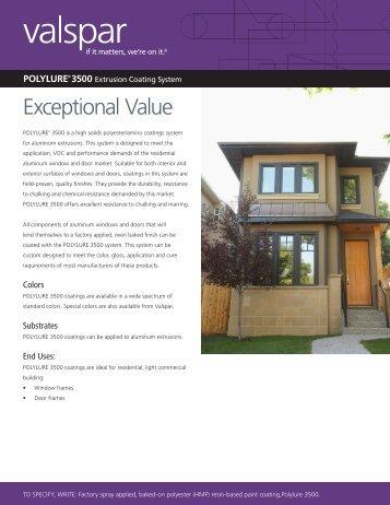 Product Data Sheet - Valspar Coil & Extrusion