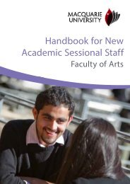 Handbook for New Academic Sessional Staff - Faculty of Arts
