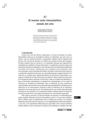 17 El reactor solar fotocatalítico: estado del arte - Plataforma Solar ...