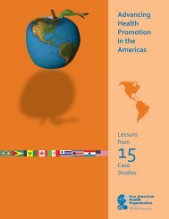 Advancing Health Promotion in the Americas - PAHO/WHO