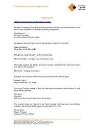 Testimonials - Association of Independent Schools of Western ...