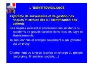 L 'IDENTITOVIGILANCE =système de surveillance et de gestion des ...