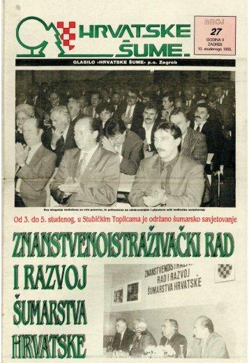 HRVATSKE ŠUME 27 (10.11.1993)