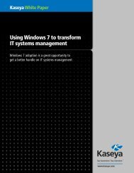 Using Windows 7 to transform IT systems management