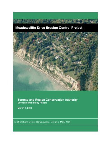 Meadowcliffe Drive Erosion Control Project - Toronto and Region ...
