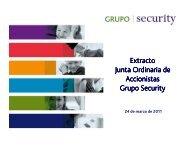 Extracto Presentación Junta de Accionistas ... - Banco Security