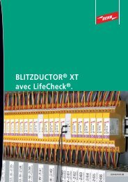 BLITZDUCTOR® XT avec LifeCheck®.