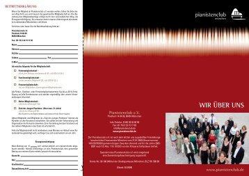 Mitgliedschaft - Pianistenclub eV