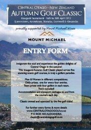 ENTRY FORM - Golf Otago
