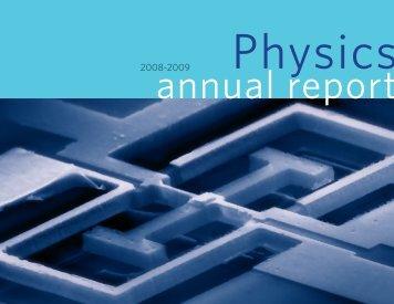 2008-2009 Annual Report - Boston University Physics Department.