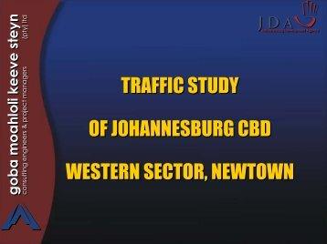 Traffic Study of Johannesburg CBD Western Sector, Newtown