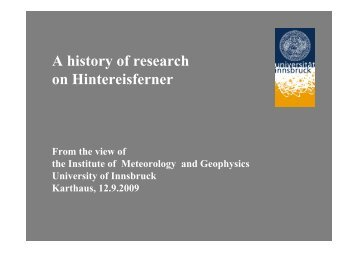 100 years of velocity measurements on Hintereisferner