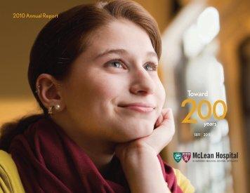 Download Annual Report 2010 - McLean Hospital