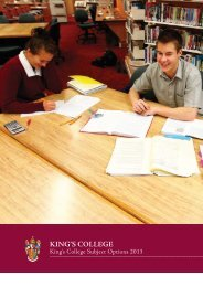 Subject Options Book - King's College