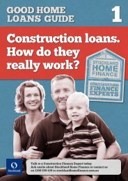 Construction loans. How do they really work? - Stockland