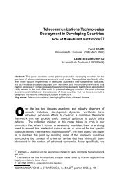 Telecommunications Technologies Deployment in Developing ...