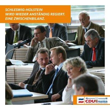 SchleSwig-holStein wird wieder anStändig regiert. eine ...