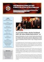 Ordensnachrichten (Ausgabe 2-2012) - Jochen Ressel
