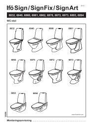 Ifö Sign/Sign Fix/Sign Art WC-stol 6840, 6860, 6861 ... - Hemfint.se