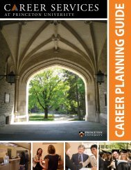 CAREER PLANNING GUIDE - Princeton University