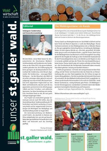 Newsletter 04 2010 (2031 kB, PDF) - im St.Galler Wald - Kanton St ...