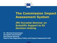 The Commission Impact Assessment System - IPSC - Europa