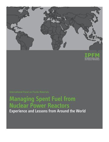 Managing Spent Fuel from Nuclear Power Reactors: Experience