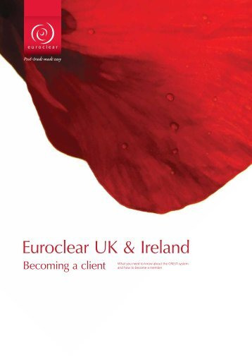 Becoming a client of Euroclear UK & Ireland