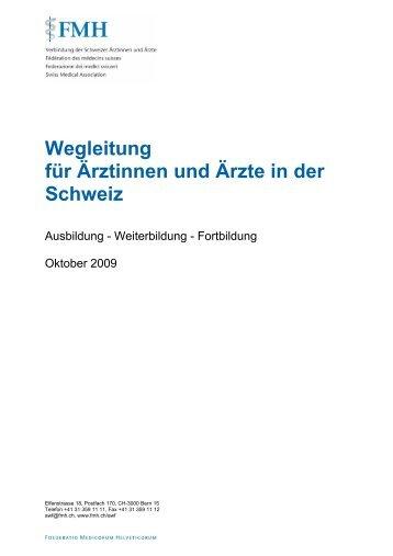 Wegleitung für Ärztinnen und Ärzte in der Schweiz