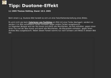 Tipp: Duotone-Effekt