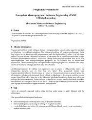 Programinformation - Blekinge Tekniska Högskola