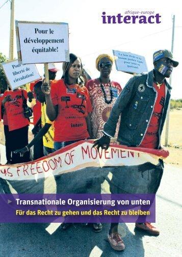 Transnationale Organisierung von unten - Afrique-Europe-Interact