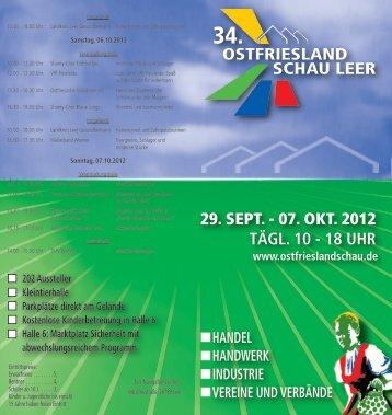 OSTFRIESLAND SCHAU LEER 29. SEPT. - 07. OKT. 2012