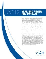 2012 year-end review and forecast - Aerospace Industries Association