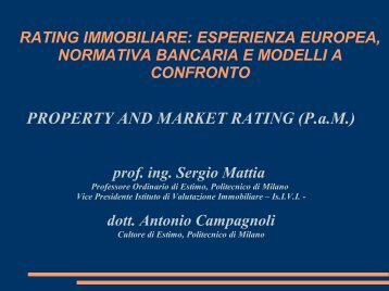 PROPERTY AND MARKET RATING - IsIVI